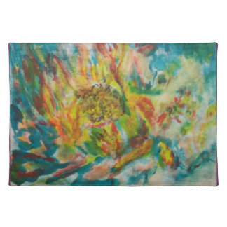 The Abstract Fower-The Memory collection-placemats Cloth Placemat