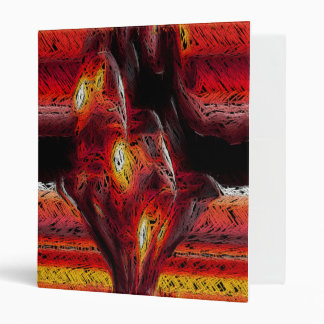 The Abstract Heart 3 Ring Binder