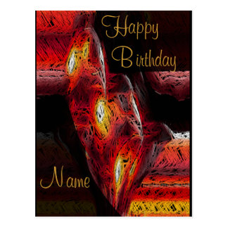 The Abstract Heart Birthday Postcard