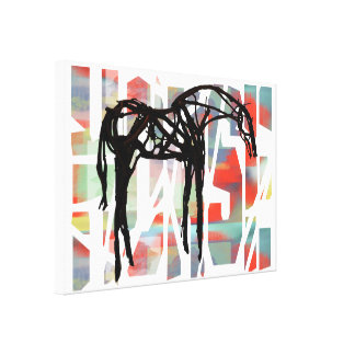 The Abstract Horse Canvas Print