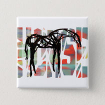 The Abstract Horse Pinback Button