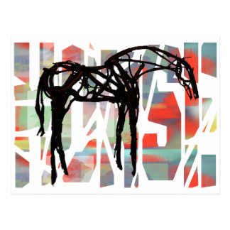 The Abstract Horse Postcard