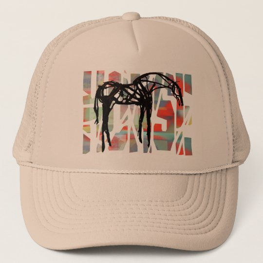 The Abstract Horse Trucker Hat