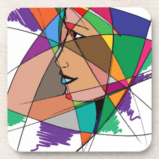 The Abstract Woman by Stanley Mathis Coaster