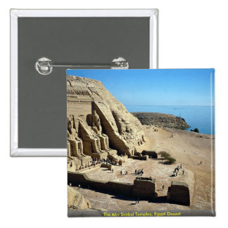 The Abu Simbel Temples, Egypt Desert 2 Inch Square Button
