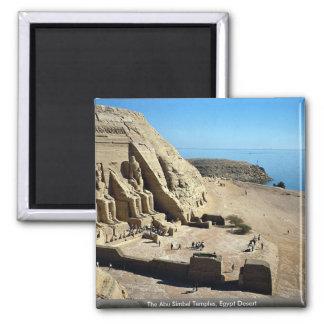 The Abu Simbel Temples, Egypt Desert 2 Inch Square Magnet
