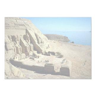 "The Abu Simbel Temples, Egypt Desert 5"" X 7"" Invitation Card"