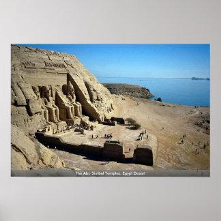 The Abu Simbel Temples, Egypt Desert Poster
