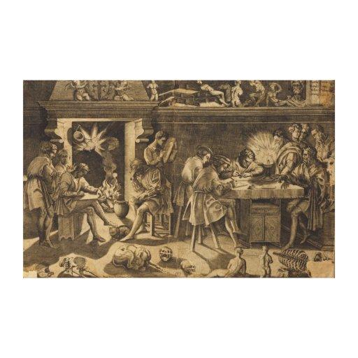 The Academy of Baccio Bandinelli, 1547 Canvas Print