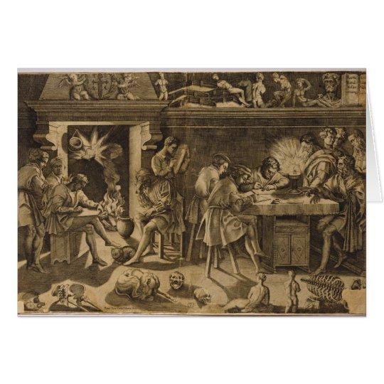 The Academy of Baccio Bandinelli, 1547 Card