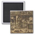 The Academy of Baccio Bandinelli, 1547 2 Inch Square Magnet