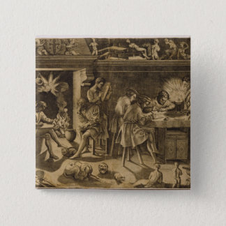 The Academy of Baccio Bandinelli, 1547 Pinback Button