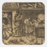 The Academy of Baccio Bandinelli, 1547 Square Sticker