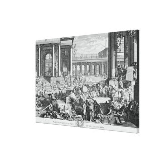 The Academy of Sciences and Fine Arts Stretched Canvas Prints
