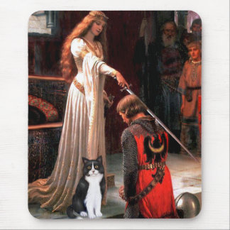 The Accolade - Black and White Cat Mouse Pad