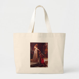 The Accolade by Edmund Blair Leighton Large Tote Bag