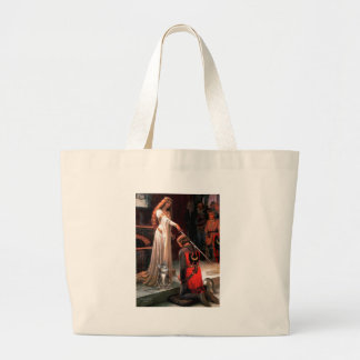 The Accolade - Grey Tabby Cat 31 Large Tote Bag