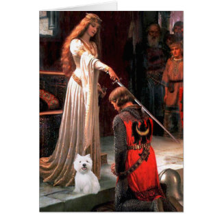 The Accolade - Westie 2 Greeting Card