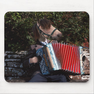 The accordian player mousepad