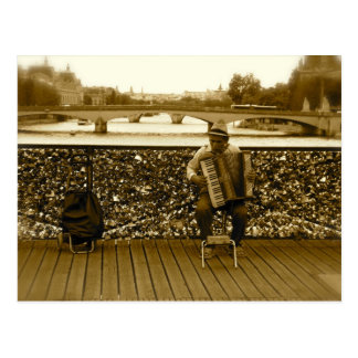 The Accordion Player Postcard