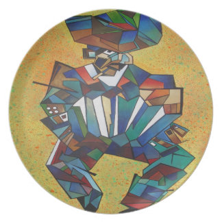 The Accordionist Dinner Plate
