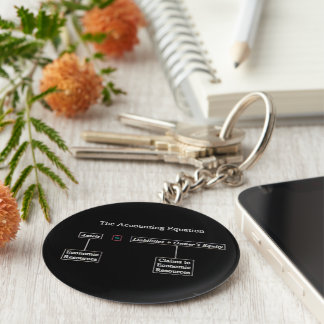 """The Accounting Equation"" Keychain"