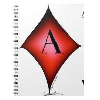 The Ace of Diamonds by Tony Fernandes Spiral Notebook