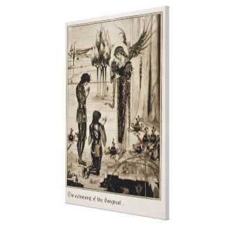 The achieving of the Sangreal, from 'Le Morte d'Ar Canvas Print