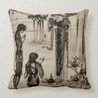 The achieving of the Sangreal, from 'Le Morte d'Ar Throw Pillow