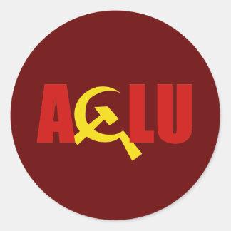 The ACLU is communist Classic Round Sticker