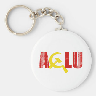The ACLU is communist Faded.png Keychain