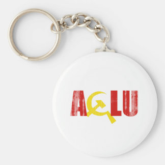 The ACLU is communist Faded.png Key Chain