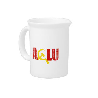 The ACLU is communist Faded png Beverage Pitcher