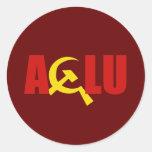 The ACLU is communist Round Sticker