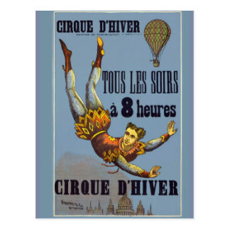 The acrobat of the Cirque to d'Hiver Postcard