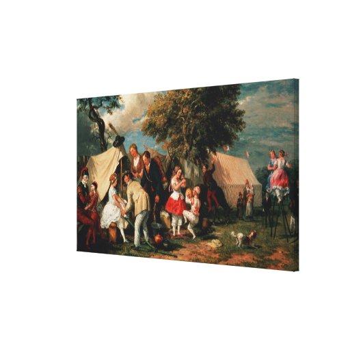 The Acrobats' Camp, Epsom Downs Canvas Print