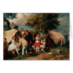 The Acrobats' Camp, Epsom Downs Greeting Card