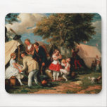The Acrobats' Camp, Epsom Downs Mouse Pad
