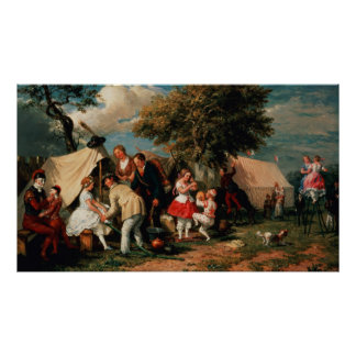 The Acrobats' Camp, Epsom Downs Poster