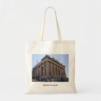 The Acropolis at Athens Greece Tote Bags