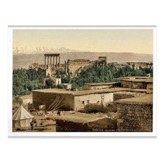 The Acropolis, Baalbek, Holy Land, (i.e., Ba'labak Postcard
