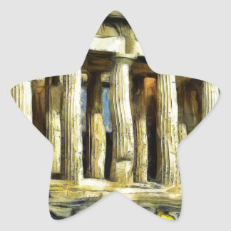 The Acropolis in Athens Star Sticker