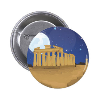 The Acropolis of Athens cartoon Pinback Button