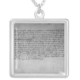 The Act of Supremacy Square Pendant Necklace
