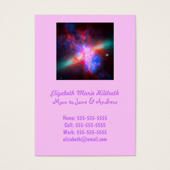The Active Cigar Galaxy - Messier 82 Business Card