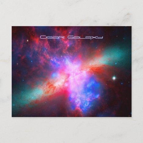 The Active Cigar Galaxy - Messier 82 Postcard