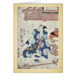 The actor Ichikawa Ebijuro by Utagawa,Toyokuni Greeting Card