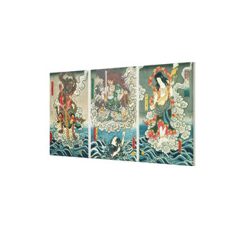 The actor Ichikawa Ebizo V as the deity Fudo Myoo Canvas Print
