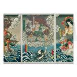 The actor Ichikawa Ebizo V as the deity Fudo Myoo Greeting Card