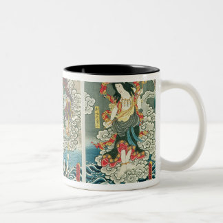 The actor Ichikawa Ebizo V as the deity Fudo Myoo Two-Tone Coffee Mug